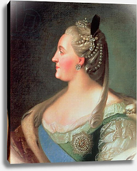 Постер Рокотов Федор Portrait of Empress Catherine II the Great, after 1763