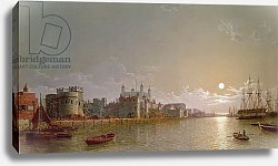 Постер Пефер Генри The Thames by Moonlight with Traitors' Gate and the Tower of London