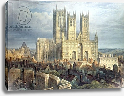Постер Макензи Фредерик Lincoln Cathedral from the North West, c.1850