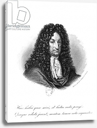 Постер Школа: Немецкая Portrait of Gottfried Wilhelm Baron de Leibniz