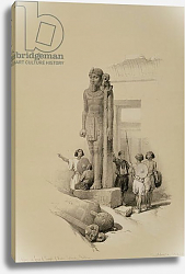 Постер Робертс Давид Colossus in front of the Temple of Wady Sabona, Ethiopia