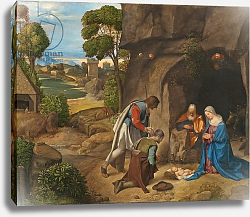 Постер Джорджоне The Adoration of the Shepherds, 1505-10