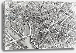 Постер Бретез Луи (карты) Plan of Paris, known as the 'Plan de Turgot', engraved by Claude Lucas, 1734-39