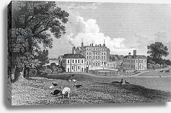Постер Байнс Томас View of Chevening Place, engraved by S. Lacy, 1830
