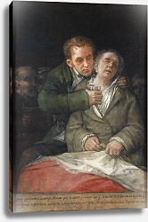Постер Гойя Франсиско (Francisco de Goya) Self-Portrait with Dr. Arrieta, 1820