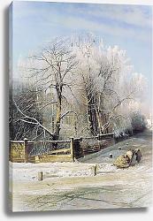 Постер Саврасов Алексей Зимний пейзаж. 1873
