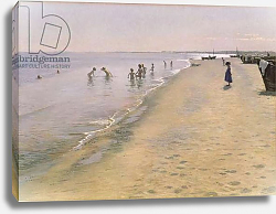 Постер Кройер Севрин Summer Day at the South Beach of Skagen, 1884