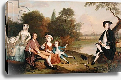 Постер Девис Артур Portrait of a Family, traditionally known as the Swaine family of Fencroft, Cambridgeshire, 1749