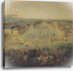 Постер Мартин Пьер The Chateau de Versailles and the Place d'Armes, 1722
