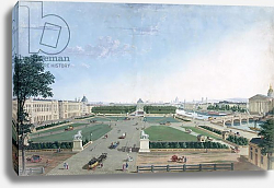Постер Курвузье Анри View of the Place Louis XV and the Jardin des Tuileries, 1815-30