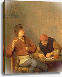 Постер Остаде Адриан Two Smokers in an Interior, 1643