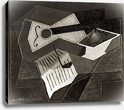 Постер Грис Хуан Guitar and Fruit bowl, 1926