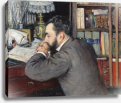 Постер Кайботт Гюстав (Gustave Caillebotte) Portrait of Henri Cordier, teacher at the School of Oriental Languages, 1883