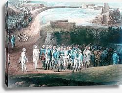 Постер Бларенберг Луи The Siege of Yorktown, 1st-17th October 1781, detail of the central group, 1784