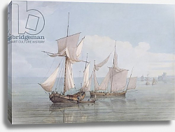 Постер Серес Джон A Hoy and a Lugger with other Shipping on a Calm Sea