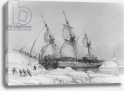Постер Майер Август The Astrolabe in Pack-Ice, 9th February, 1838