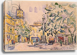 Постер Синьяк Поль (Paul Signac) Square of the Hotel de Ville in Aix-en-Provence