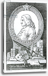 Постер Хогарт Вильям (последователи) Henry Fielding at the Age of Forty Eight, engraved by James Basire