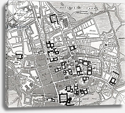 Постер Map of Oxford, Oxfordshire, England 1898