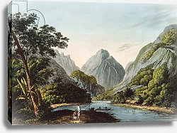 Постер Уэббер Джон A View in Oheitepha Bay on the Island of Otaheite, from 'Captain Cook's Last Voyage', 1809