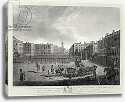 Постер Дейес Эдвард (грав) View of Hanover Square, engraved by Robert Pollard and Francis Jukes 1787