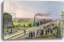 Постер Школа: Русская 19в. Opening of the First Railway Line from Tsarskoe Selo to Pavlovsk in 1837