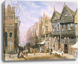 Постер Рейнер Луис Watergate Street, looking towards Eastgate, Chester, c.1870