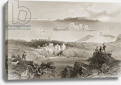 Постер Бартлет Уильям (последователи, грав) View of Howth Castle, County Dublin, Ireland, from 'Scenery and Antiquities of Ireland'