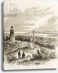 Постер Мэннинг Самуэль (грав) Sandy Hook New Jersey, seen from the lighthouse in the 1870s, c.1880