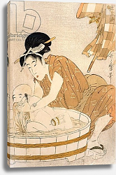 Постер Утамаро Китагава The Bath, Edo period
