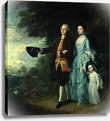 Постер Гейнсборо Томас Mr. and Mrs. George Byam and their eldest daughter, Selina, c.1764