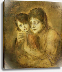 Постер Ленбах Франц Mother and Child, 1893