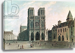 Постер Габрицца Анжело The Square in Front of Notre-Dame at the Time of the Consulat, 1799-1804