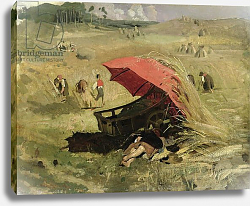 Постер Ленбах Франц The Red Sunshade, c.1860