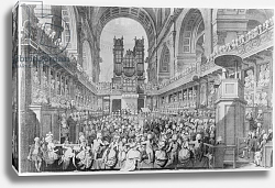 Постер Дейес Эдвард (грав) Thanksgiving at St. Paul's for George III's Recovery from Illness
