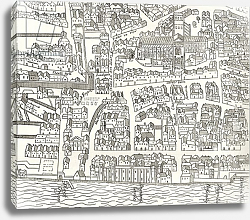 Постер Школа: Английская 19в. London around St. Paul's in 1563, from 'London Pictures: Drawn with Pen and Pencil', 1890