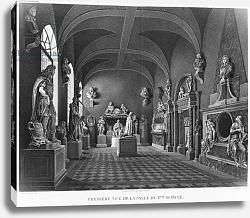 Постер Ваузель Джон First view of the 17th century room, Musee des Monuments Francais, Paris, 1816