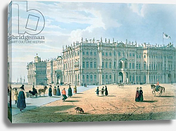 Постер Перро Фердинанд The Winter Palace as seen from Palace Passage, St. Petersburg, c.1840