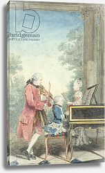 Постер Кармонтель Луи Leopold Mozart and his Children Wolfgang Amadeus and Maria Anna 1777