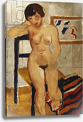 Постер Вуд Кристофер Nude with a Striped Rug, Meraud Guinness, 1928