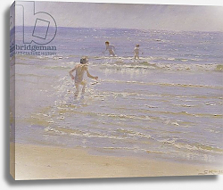 Постер Кройер Севрин Sunshine at Skagen: Boys Swimming, 1892
