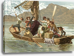 Постер Планелла Коромина Хосе Descartes and the boatmen of Elba
