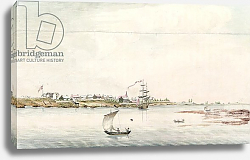 Постер Школа: Французская View of the town and fort of Detroit, late eighteenth century