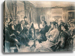 Постер Лермит Леон The Quartet or The Musical Evening at the House of Amaury Duval, 1881