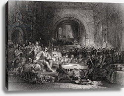 Постер Каттермол Джордж (грав) Prince Llewellyn and his Barons, engraved by William Radclyffe