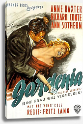 Постер Film Noir Poster - Blue Gardenia, The