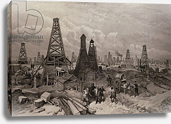 Постер Школа: Английская 19в. The Petroleum Oil Wells at Baku on the Caspian Sea, from 'The Illustrated London News', 1886