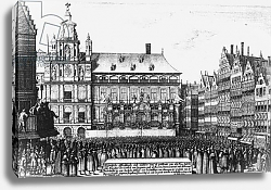 Постер Холлар Вецеслаус (грав) Proclamation of the peace of Westphalia in 1648, engraved by F. Wyngaerde