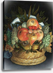 Постер Арчимбольдо Джузеппе Reversible anthropomorphic portrait of a man composed of fruit