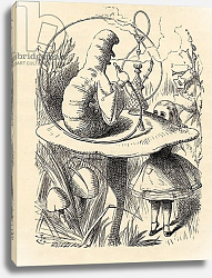 Постер Тениель Джон Advice from a Caterpillar, from 'Alice's Adventures in Wonderland' by Lewis Carroll, published 1891